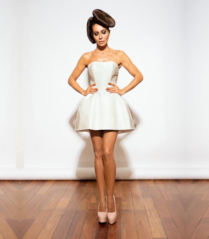 Vestido Mini en Rafia de Algodon