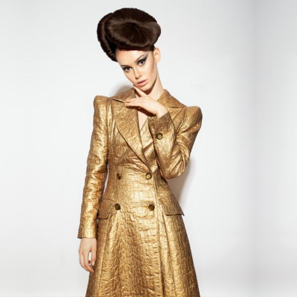 abrigo modelo entallado